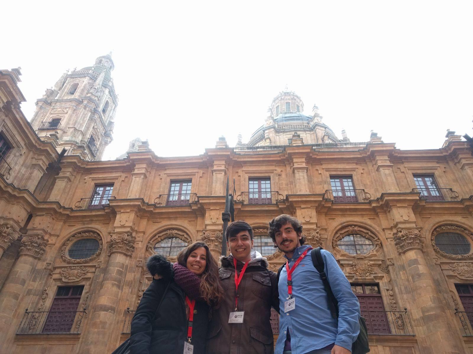 Olga Martín, Manuel Iglesias y Jose Luis Valencia, representantes de la Universidad Complutense de Madrid.