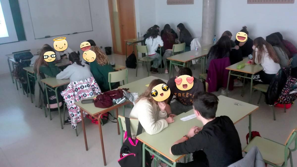 Alumnos y alumnas del IES Segundo de Chomón durante el taller de Mind the Mind.