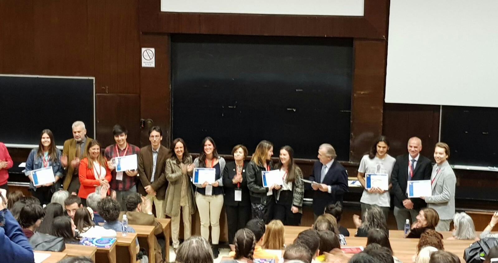 Manuel Iglesias en la entrega de premios del XIII Congreso de Investigación para Estudiantes Pregraduados de Ciencias de la Salud.