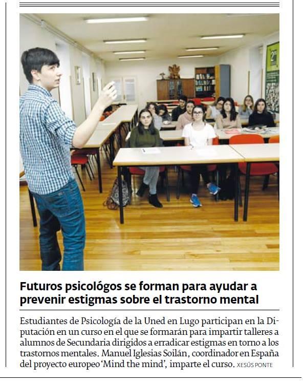 """Noticia en el periódico """"El Progreso"""" 28/12/2016."""