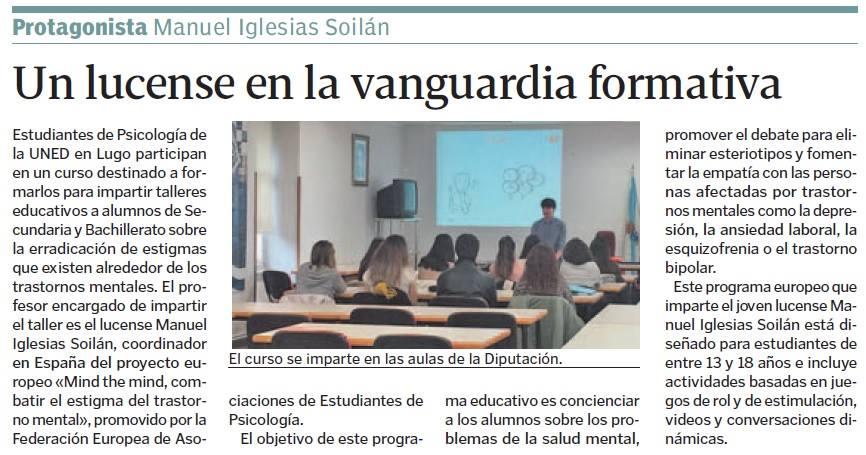 """Noticia en el periódico """"La Voz de Galicia"""" 28/12/2016."""