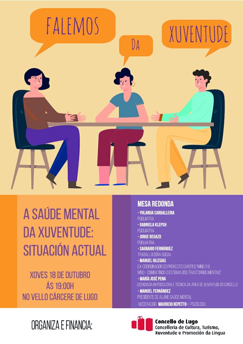 Jornada sobre Salud Mental en Lugo, en la que participa Manuel Iglesias Soilán.