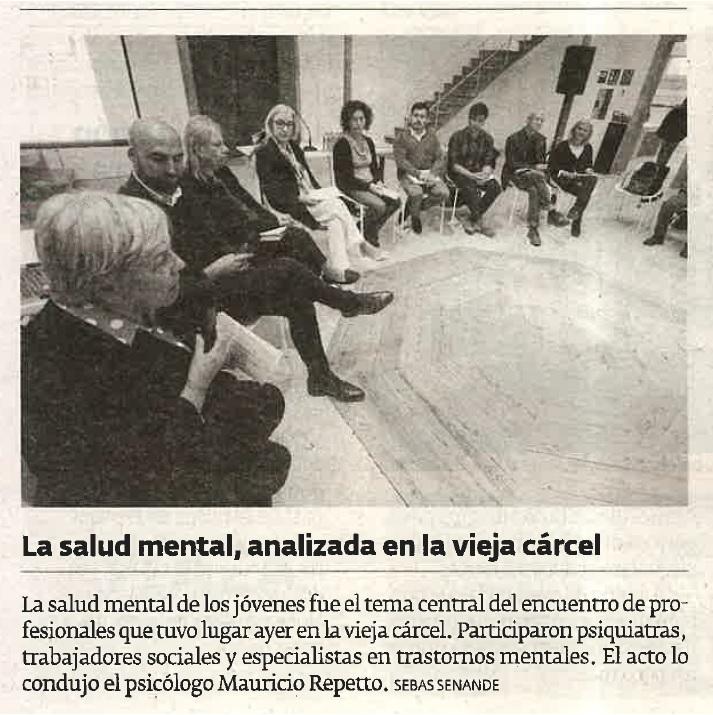 """Noticia en el periódico """"El Progreso"""" sobre la mesa rendonda """"Falemos de Xuventude"""" 19/10/2018."""