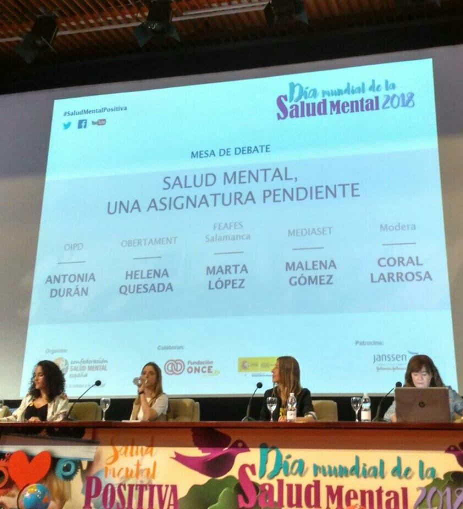 """Segunda mesa redonda de la Jornada """"Educación Inclusiva, Salud Mental Positiva""""."""
